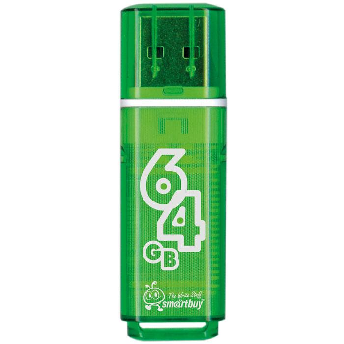 SmartBuy Glossy Series 64GB, Green USB-накопитель