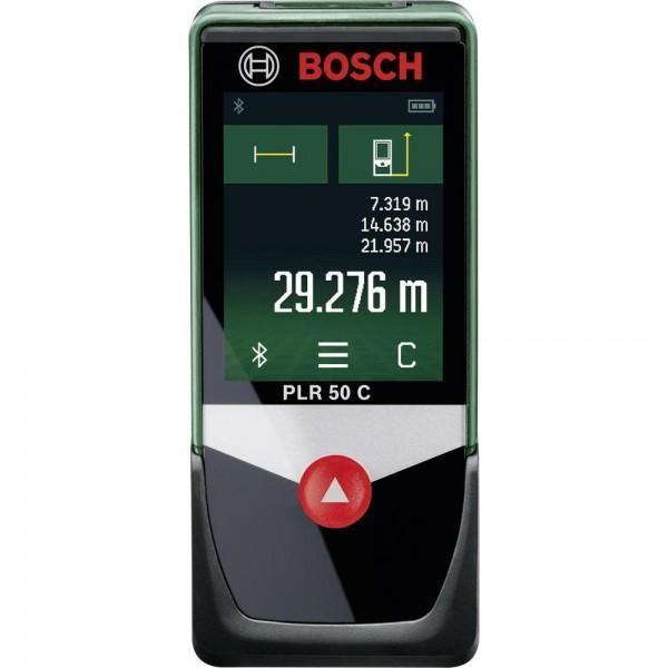 Лазерный дальномер Bosch PLR 50 C0603672220Складной метр, карандаш и записки теперь в прошлом! Лазерный дальномер PLR 50 C измеряет углы наклона и длину с точностью до миллиметра и на их основании автоматически рассчитывает площадь и объем. Благодаря по-настоящему уникальному среди инструментов для домашних мастеров оснащению, которое включает в себя сенсорный экран, Bluetooth для беспроводной передачи данных в приложение Bosch и датчик наклона, PLR 50 C готов предоставить всю необходимую мастеру информацию. Расстояния до 50 метров - даже с наличием предметов мебели - лазерный дальномер PLR 50 C измеряет с точностью +/- 2 мм. На основании полученных данных он рассчитывает площадь, объем, а также показывает углы наклона, выполняет косвенные измерения высоты, длины и двойное косвенное измерение высоты. Благодаря функции калькулятора (+/-) этот инструмент может складывать отдельные размеры и вычитать их. Таким образом, с помощью PLR 50 C можно очень легко определить, какое количество краски, обоев или...