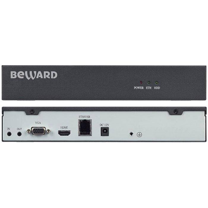 Beward BS1112, Black IP видеорегистраторBS111212-канальный IP-видеорегистратор Beward BS1112 – это оптимальное решение для записи с IP-камер Beward в формате H.264 с разрешением до 2 Мп либо с любых IP-камер, поддерживающих протокол ONVIF. Запись информации производится на жесткий диск, подключенный через SATA-интерфейс, а просмотр – удаленно, по сети, через веб-интерфейс на подключенном VGA- или HDMI-мониторе. Beward BS1112 обладает высокой производительностью, функционируя при этом в режиме pentaplex. Это позволяет одновременно вести наблюдение, запись, просмотр архива, резервное копирование и работу в сети. Предустановленная ОС Linux обеспечивает надежность работы системы видеонаблюдения в целом. Регистратор отлично вписывается в любой интерьер благодаря компактным размерам и эстетичному виду. Запись с IP-камер Beward BS1112 можно подключать одновременно до 12 IP-камер. При этом доступна запись с разрешением до Full HD (2 Мп) с 9 каналов одновременно либо с разрешением HD – с 12 каналов....