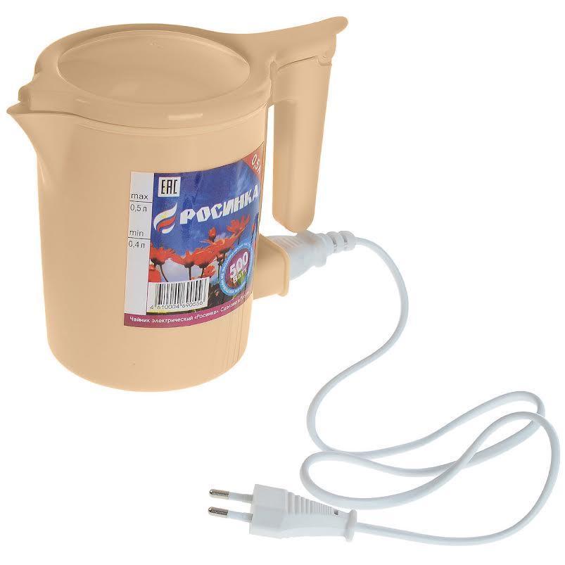 Росинка электрочайникЧЭ РосинкаЭлектрический чайник РосТехБыт Росинка является прекрасным решением для тех, кто любит устраивать себе перерывы в работе на чашечку чая или кофе. Он прост в управлении и долговечен в использовании.