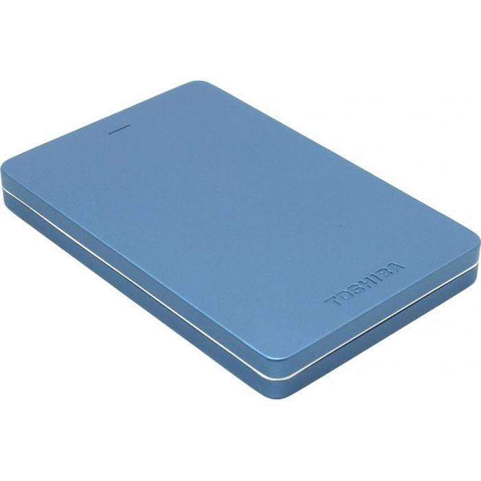 Toshiba Canvio Alu 500GB, Blue внешний жесткий диск (HDTH305EL3AA)HDTH305EL3AAХраните важные данные надежно на внешнем жестком диске Toshiba Canvio Alu! Доступ к записанной информации осуществляется быстро и легко при помощи подключения USB 3.0. С его элегантным алюминиевым корпусом в различных цветовых вариациях вы приобретаете стильное и яркое решение для хранения нужных файлов. Диск необычайно прост в использовании, встроенное программное обеспечение резервного копирования NTI позволяет делать регулярные автоматические резервные копии данных для дополнительной безопасности.