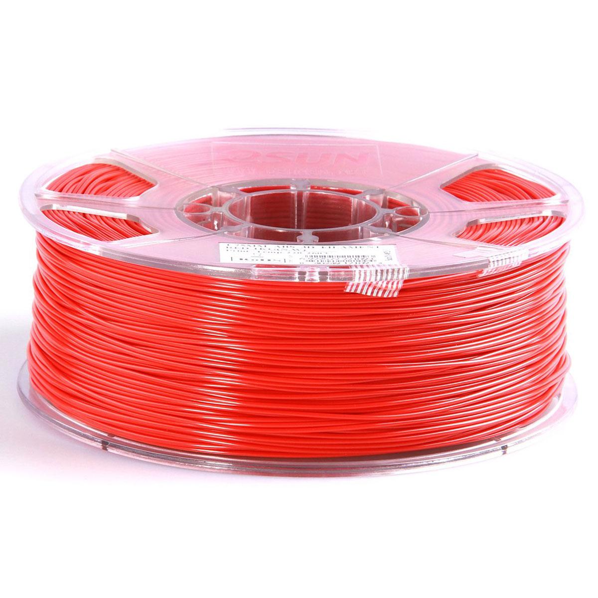 ESUN пластик ABS в катушке, Red, 1,75 ммABS175R1Пластик ABS от ESUN долговечный и очень прочный полимер, ударопрочный, эластичный и стойкий к моющим средствам и щелочам. Один из лучших материалов для печати на 3D принтере. Пластик ABS не имеет запаха и не является токсичным. Температура плавления 220-260°C. АБС пластик для 3D-принтера применяется в деталях автомобилей, канцелярских изделиях, корпусах бытовой техники, мебели, сантехники, а также в производстве игрушек, сувениров, спортивного инвентаря, деталей оружия, медицинского оборудования и прочего. Диаметр пластиковой нити: 1.75 мм