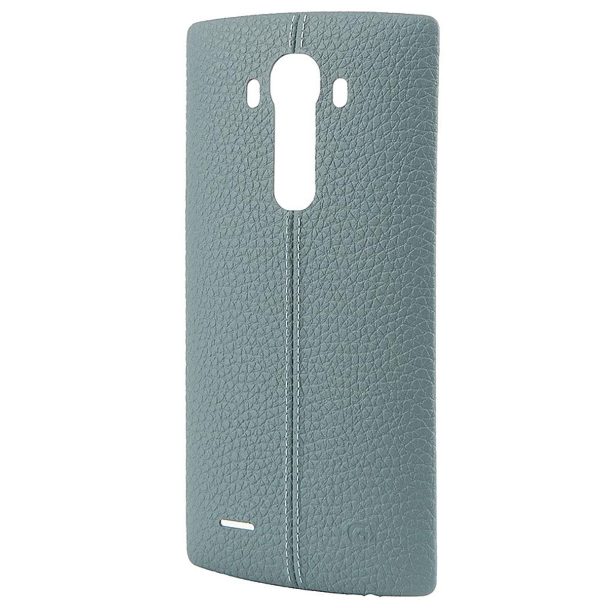LG BackCover чехол для G4 H818, BlueCPR-110.AGRABLЧехол LG BackCover для G4 H818 предназначен для защиты корпуса смартфона от механических повреждений и царапин в процессе эксплуатации. Покрытие чехла из натуральной кожи со стильным швом-строчкой. Доступна работа NFC.