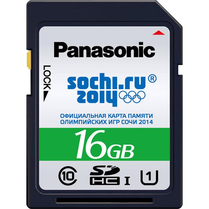 Panasonic SDHC 16GB Olympic Sochi 2014, Silver карта памяти