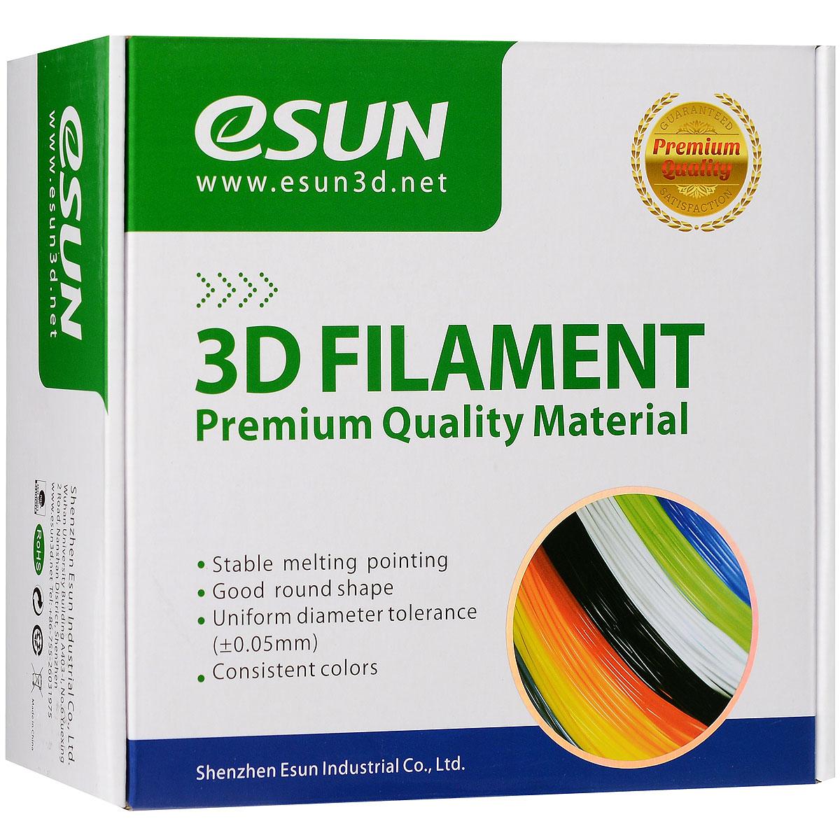 ESUN пластик ABS в катушке, White, 1,75 ммABS175W1Пластик ABS от ESUN долговечный и очень прочный полимер, ударопрочный, эластичный и стойкий к моющим средствам и щелочам. Один из лучших материалов для печати на 3D принтере. Пластик ABS не имеет запаха и не является токсичным. Температура плавления 220-260°C. АБС пластик для 3D-принтера применяется в деталях автомобилей, канцелярских изделиях, корпусах бытовой техники, мебели, сантехники, а также в производстве игрушек, сувениров, спортивного инвентаря, деталей оружия, медицинского оборудования и прочего. Диаметр пластиковой нити: 1.75 мм