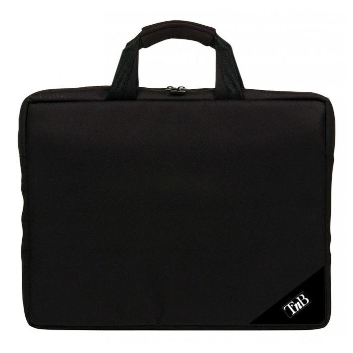 TNB NBF15 сумка для ноутбука 15.4, BlackNBF15TNB NBF15 - это надежная сумка для ноутбука с диагональю до 15.4 дюйма. Основное отделение для ноутбука имеет мягкую подкладку для эффективной защиты от царапин. Для документов также имеется удобное внутреннее отделение на молнии. Усиленные ручки обеспечивают дополнительную надежность и комфорт при транспортировке.