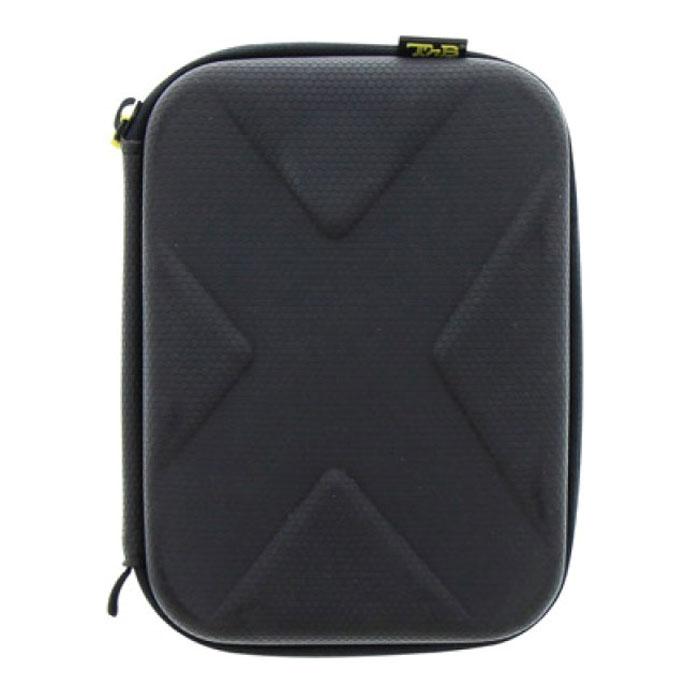 TNB SPACBOXS сумка для камеры, размер S, BlackSPACBOXSTNB SPACBOXS - легкая и прочная сумка для вашей экшн-камеры и аксессуаров к ней. Специальный материал EVA обеспечит отличную ударопрочность в любых ситуациях. Вспененный полимер надежно защитит камеру и все принадлежности. Сумку можно прикрепить к рюкзаку с помощью ремешка в комплекте. Совместимо с TNB Adrenalin, Go Pro и другими моделями экшн-камер.