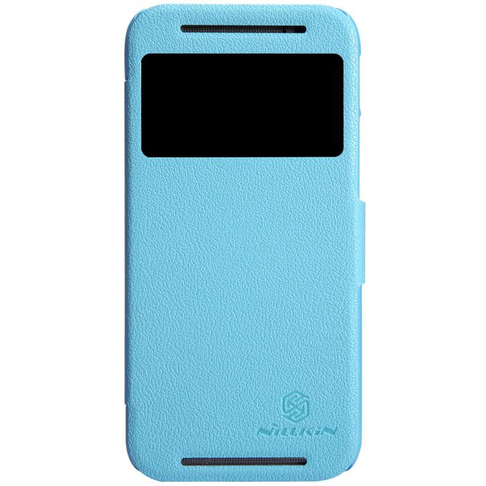 Nillkin Fresh Series Leather Case чехол для HTC One (M8), BlueT-N-HOM8-001Чехол Nillkin Fresh Series Leather Case сделан из высококачественного поликарбоната и экокожи. Он надежно фиксирует и защищает смартфон при падении. Обеспечивает свободный доступ ко всем разъемам и элементам управления.