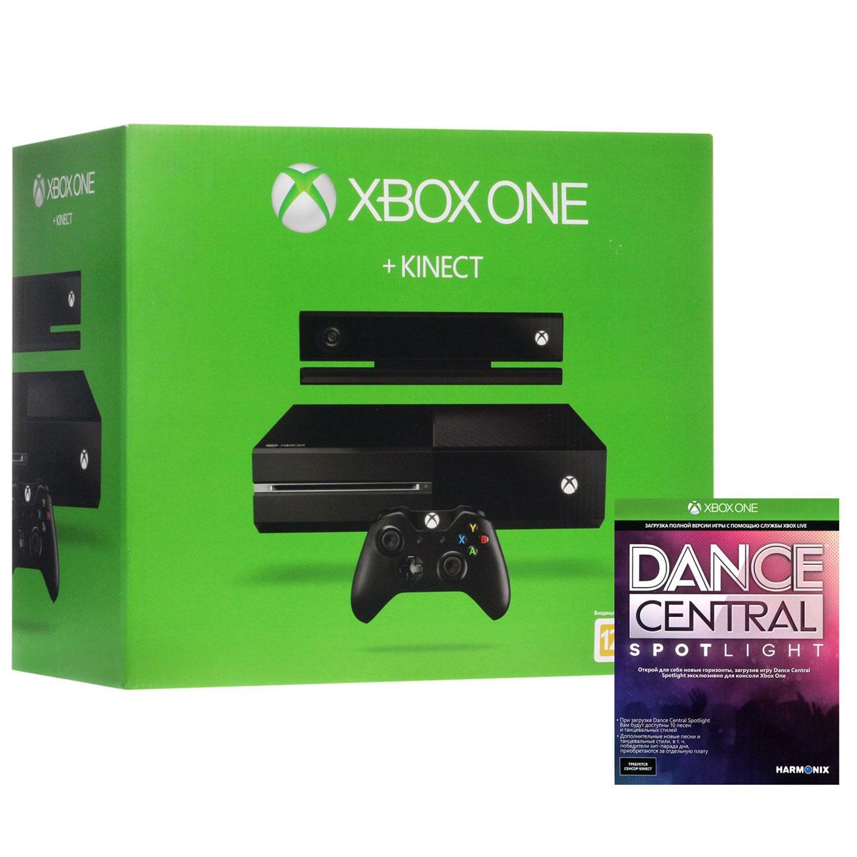 Игровая приставка Xbox One 500 ГБ + сенсор Kinect + игра Dance Central Spotlight