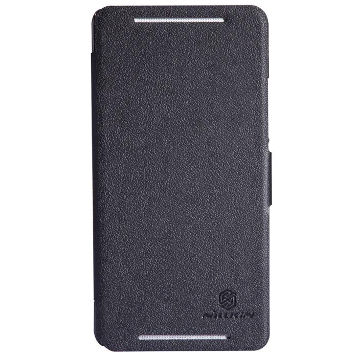 Nillkin Fresh Series Leather Case чехол для HTC One Max, BlackT-N-H8088-001Чехол Nillkin Fresh Series Leather Case сделан из высококачественного поликарбоната и экокожи. Он надежно фиксирует и защищает смартфон при падении. Обеспечивает свободный доступ ко всем разъемам и элементам управления.