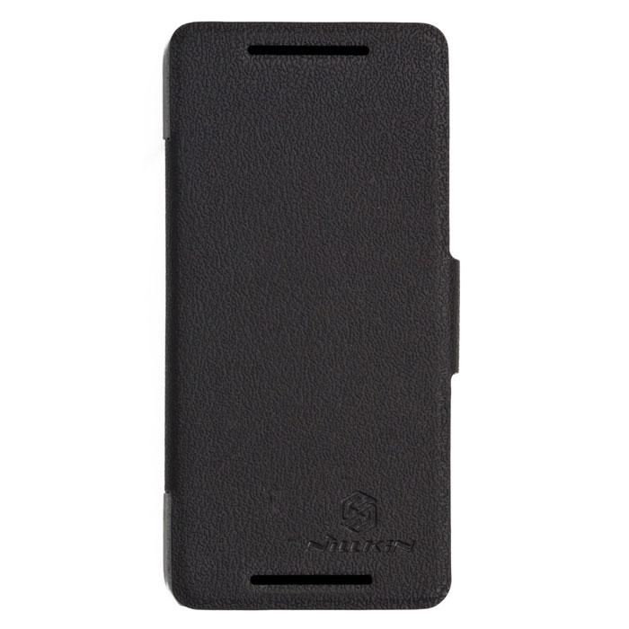 Nillkin Fresh Series Leather Case чехол для HTC One Mini M4, BlackT-N-H601E-001Чехол Nillkin Fresh Series Leather Case сделан из высококачественного поликарбоната и экокожи. Он надежно фиксирует и защищает смартфон при падении. Обеспечивает свободный доступ ко всем разъемам и элементам управления.