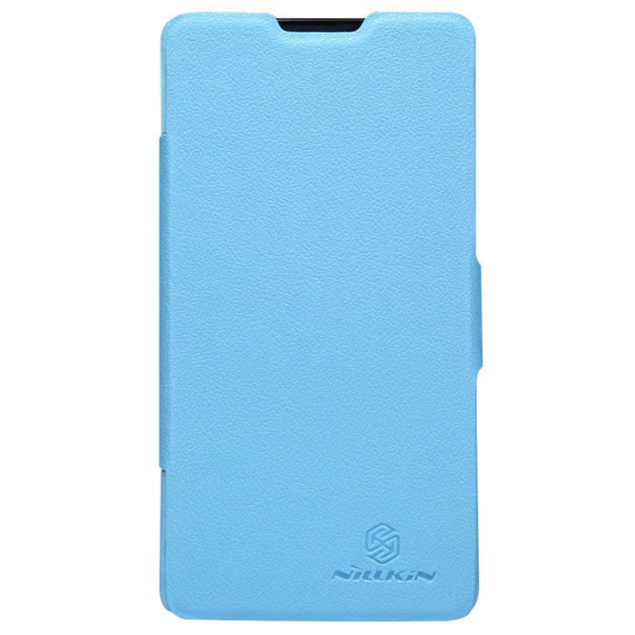 Nillkin Fresh Series Leather Case чехол для Huawei Ascend G700, BlueT-N-HAG700-001Чехол Nillkin Fresh Series Leather Case сделан из высококачественного поликарбоната и экокожи. Он надежно фиксирует и защищает смартфон при падении. Обеспечивает свободный доступ ко всем разъемам и элементам управления.