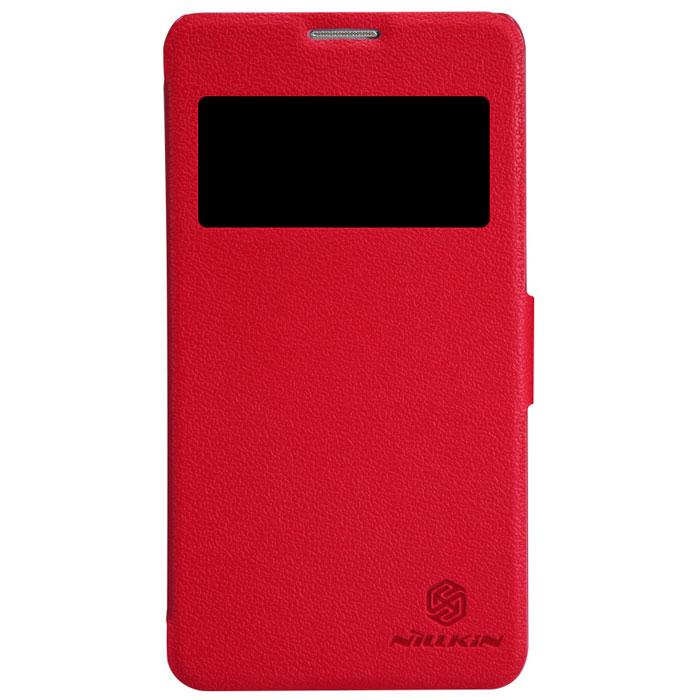 Nillkin Fresh Series Leather Case чехол для Huawei Honor 3X (G750), RedT-N-HHG750-001Чехол Nillkin Fresh Series Leather Case сделан из высококачественного поликарбоната и экокожи. Он надежно фиксирует и защищает смартфон при падении. Обеспечивает свободный доступ ко всем разъемам и элементам управления.