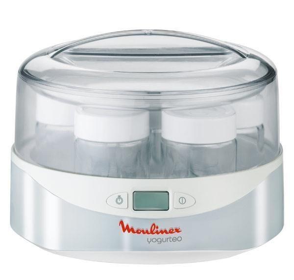 Moulinex YG230131 йогуртницаYG230131Благодаря LCD-дисплею с электронным таймером вы можете очень легко контролировать время приготовления. Маркер срока годности на крышке позволит вам контролировать свежесть ваших йогуртов. Работает автоматически, выключается в соответствии с заданной регулировкой таймера.