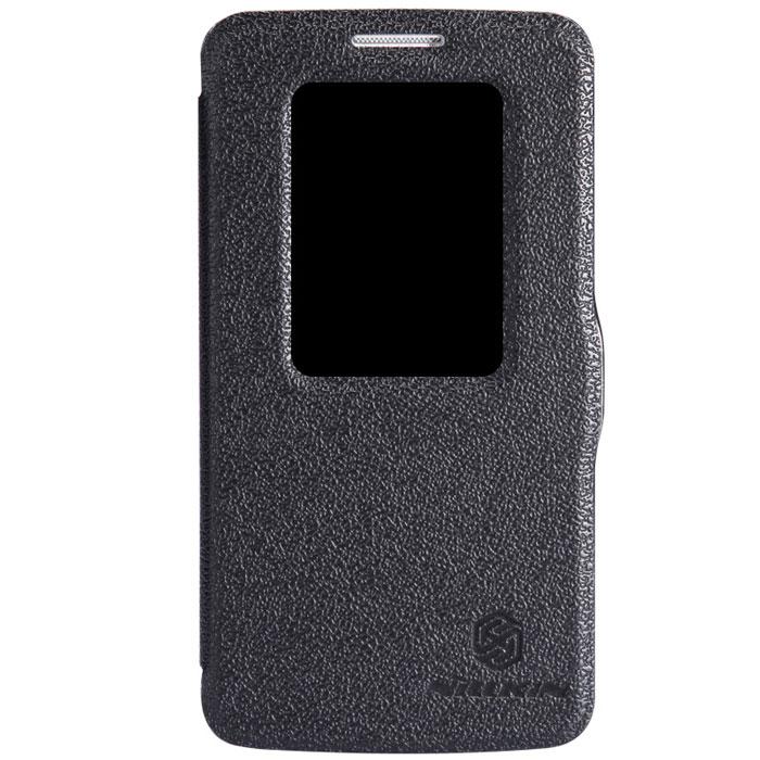 Nillkin Fresh Series Leather Case чехол для LG G2 mini (D618), BlackT-N-LD618-001Чехол Nillkin Fresh Series Leather Case сделан из высококачественного поликарбоната и экокожи. Он надежно фиксирует и защищает смартфон при падении. Обеспечивает свободный доступ ко всем разъемам и элементам управления. Уникальный дизайн чехла с окном для экрана, в котором отображаются все важные иконки. Нет необходимости открывать чехол для того, чтобы установить время, выбрать музыку, сделать фото, ответить на звонок или прочитать сообщение.