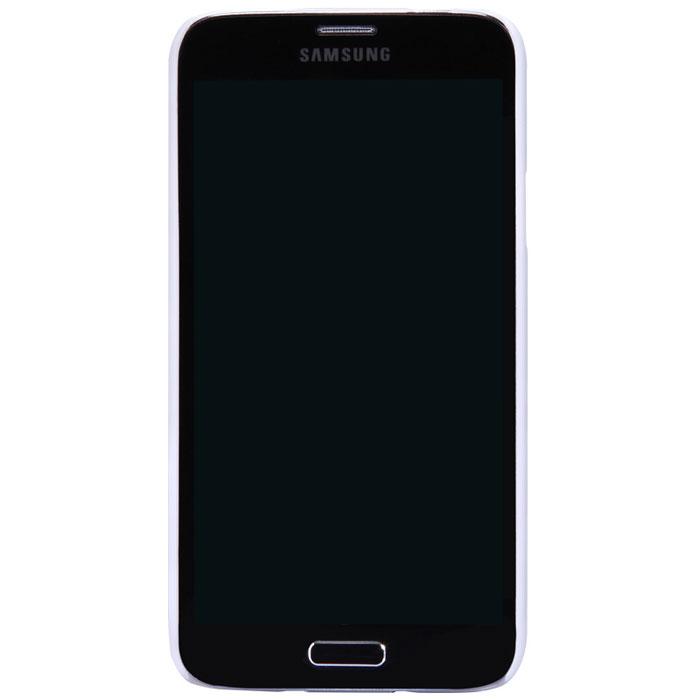 Nillkin Super Frosted Shield чехол для Samsung Galaxy S5, WhiteT-N-SG900-002Чехол Nillkin Super Frosted Shield для Samsung Galaxy S5 изготовлен из экологически чистого поликарбоната путем высокотемпературной высокоточной формовки. Обе стороны чехла выполнены в соответствии с самой современной технологией изготовления матовых материалов, устойчивых к оседанию пыли, и покрыты краской, светящейся под воздействием ультрафиолета. Элегантный дизайн, чехол приятен на ощупь. Жесткость чехла предотвращает телефон от повреждений во время транспортировки. Размер чехла точно соответствует размеру телефона с четким соответствием всех функциональных отверстий. Вы можете использовать чехол, как вам будет удобно. Он изготовлен из цельной пластины методом загиба, износостойкий, устойчив к оседанию пыли, не скользит, устойчив к образованию отпечатков, легко чистится. Супертонкий Не скользит в руках