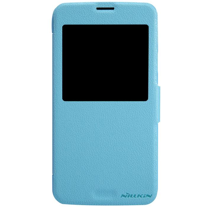 Nillkin Fresh Series Leather Case чехол для Samsung Galaxy S5, BlueT-N-SG900-001Чехол Nillkin Fresh Series Leather Case сделан из высококачественного поликарбоната и экокожи. Он надежно фиксирует и защищает смартфон при падении. Обеспечивает свободный доступ ко всем разъемам и элементам управления. Уникальный дизайн чехла с окном для экрана, в котором отображаются все важные иконки. Нет необходимости открывать чехол для того, чтобы установить время, выбрать музыку, сделать фото, ответить на звонок или прочитать сообщение.