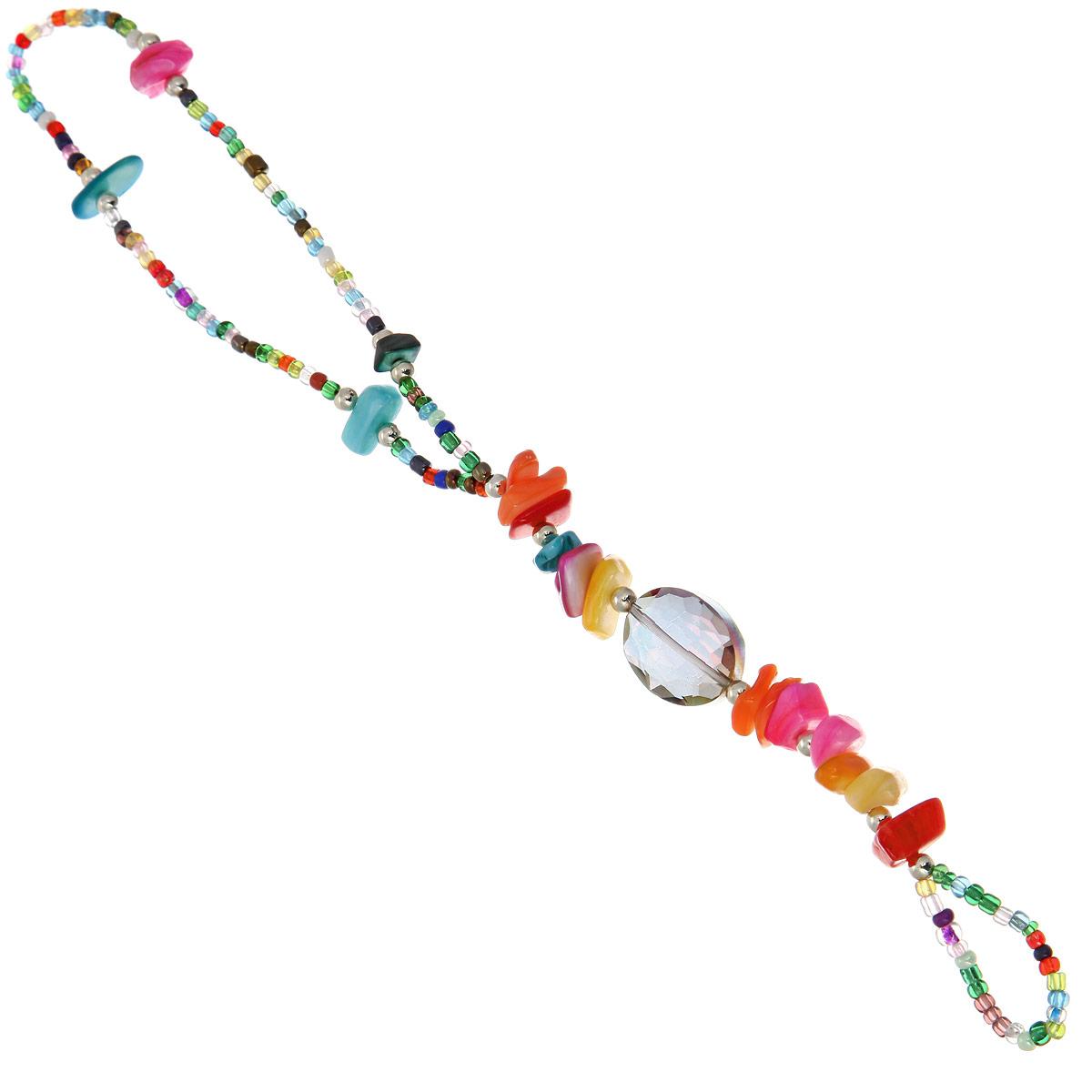 Браслет Taya, цвет: мультиколор. T-B-10135T-B-10135-BRAC-MULTIЯркий женский браслет Taya изготовлен из разноцветного бисера, бусин и камней. Браслет выполнен в стиле индийских украшений. Модель браслета нестандартная, он с одной стороны одевается на запястье, а с другой - на палец. Элементы браслета соединены с помощью тонкой резинки. Изделие придется по душе всем, кто следит за трендами.