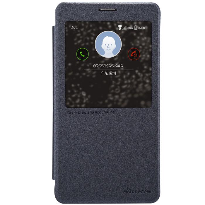 Nillkin Sparkle Leather Case чехол для Samsung Galaxy Note 4, BlackT-N-SGN4-009Чехол Nillkin Sparkle Leather Case для Samsung Galaxy Note 4 изготовлен из высококачественной искусственной кожи с перламутровым покрытием. Основа чехла состоит из поликарбоната. Благодаря чувствительному материалу, из которого выполнено функциональное окно, отсутствует необходимость открывать чехол для того, чтобы ответить на вызов, проверить время, воспользоваться камерой или любой другой функцией. Очень удобно и практично. Ультратонкий Водостойкий Противоскользящий Функциональность: умный сон, автопробуждение