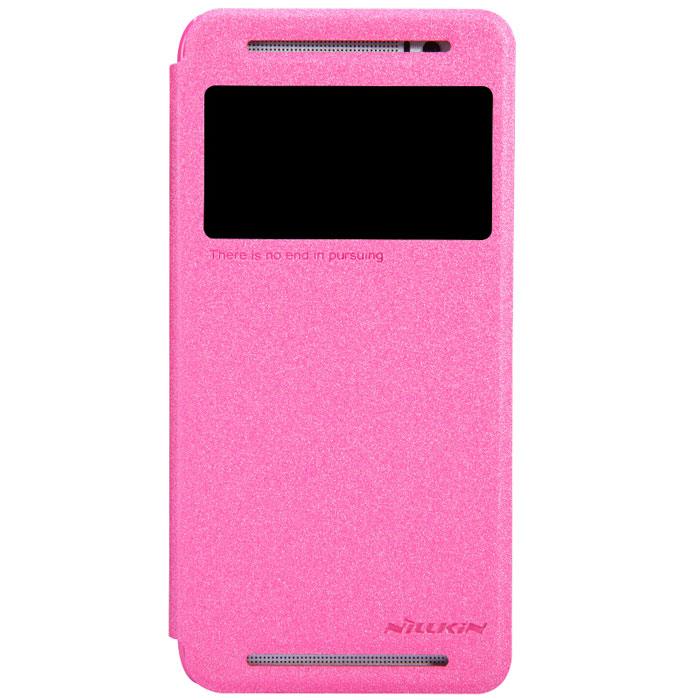 Nillkin Sparkle Leather Case чехол для HTC One (E8), RedT-N-HE8-009Чехол Nillkin Sparkle Leather Case для HTC One (E8) выполнен из высококачественного поликарбоната и искусственной кожи. Он надежно фиксирует и защищает смартфон при падении. Обеспечивает свободный доступ ко всем разъемам и элементам управления. Благодаря функциональному окну отсутствует необходимость открывать чехол для того, чтобы ответить на вызов, проверить время, воспользоваться камерой или любой другой функцией.