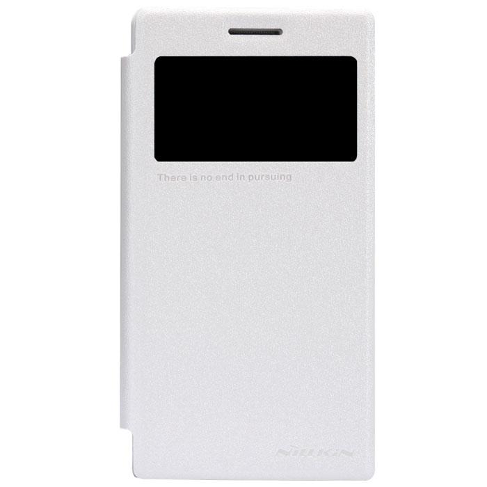 Nillkin Sparkle Leather Case чехол для Huawei Ascend G6, WhiteT-N-HAG6-009Чехол Nillkin Sparkle Leather Case для Huawei Ascend G6 выполнен из высококачественного поликарбоната и искусственной кожи. Он надежно фиксирует и защищает смартфон при падении. Обеспечивает свободный доступ ко всем разъемам и элементам управления. Благодаря функциональному окну отсутствует необходимость открывать чехол для того, чтобы ответить на вызов, проверить время, воспользоваться камерой или любой другой функцией.