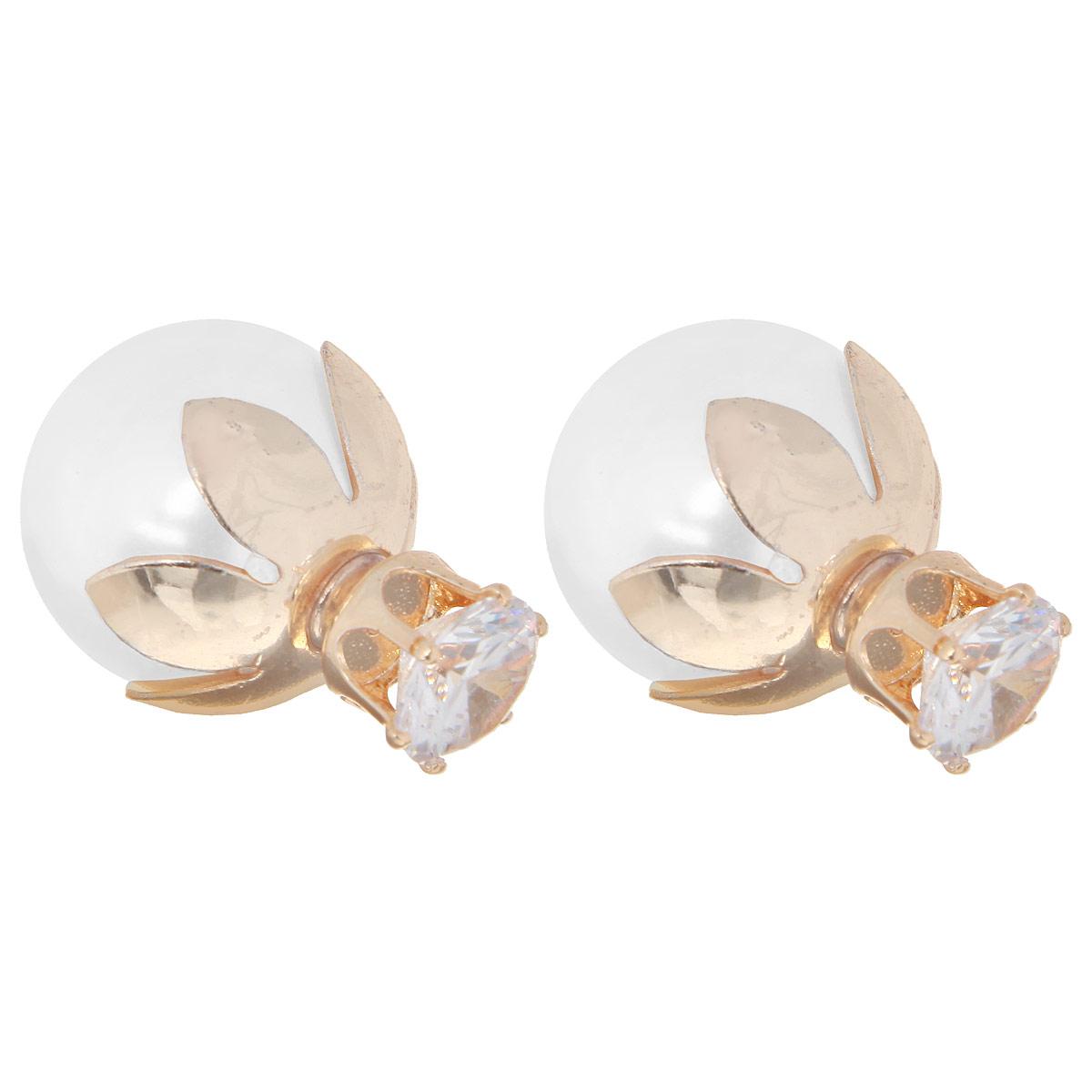 Серьги Taya, цвет: перламутровый. T-B-10008-EARR-PEARLT-B-10008-EARR-PEARLОригинальные серьги модного дизайна создают яркий и запоминающийся образ.
