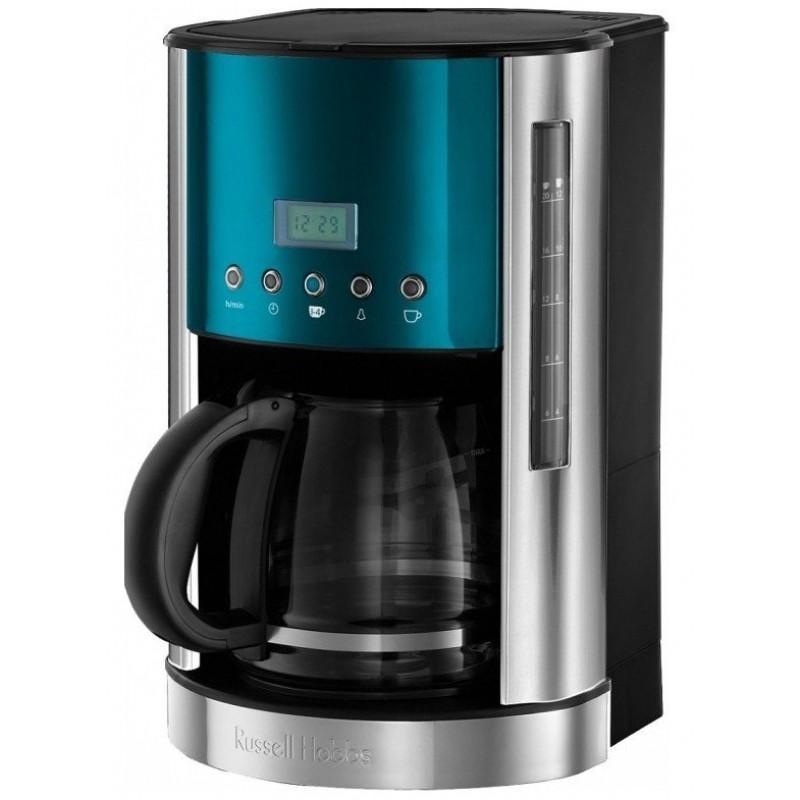Russell Hobbs 21790-56 Jewels Topaz, Blue кофеварка21790-56Невероятно гладкая, стильная и такая аккуратная в вашем интерьере, кофеварка Jewels Topaz приготовит до 12 чашек ароматного кофе за один раз. Емкости стеклянного кувшина (1.8 литра) хватит на весь офис или для всех ваших утренних гостей дома. Кофеварка обладает функцией выбора крепости заваривания, что означает выбор насыщенного и крепкого или мягкого и менее крепкого вкуса свежесваренного кофе, отвечающего именно вашему вкусу. А программируемый таймер приготовит ваш напиток именно тогда, когда вы этого пожелаете.