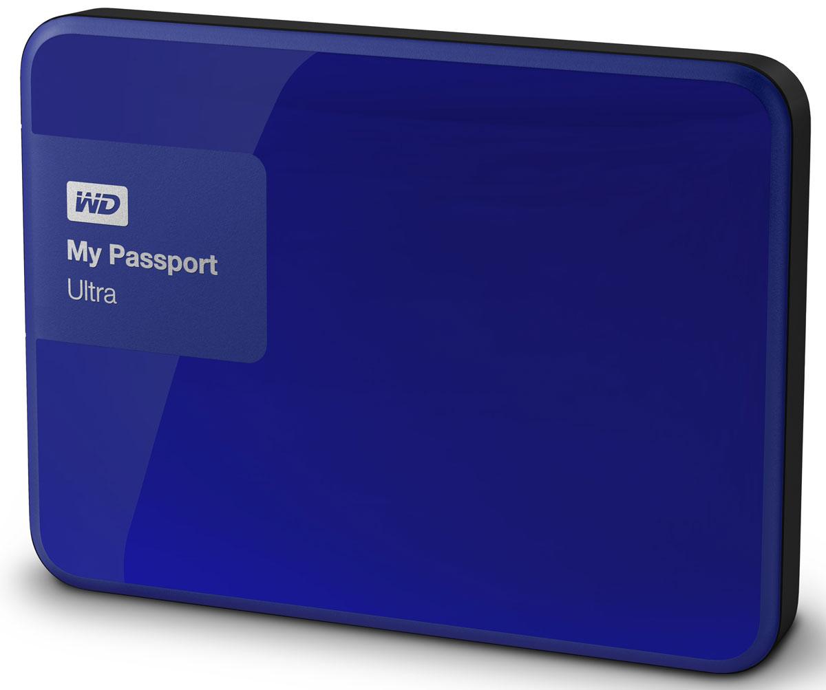WD My Passport Ultra 1TB, Blue внешний жесткий диск (WDBDDE0010BBL-EEUE)