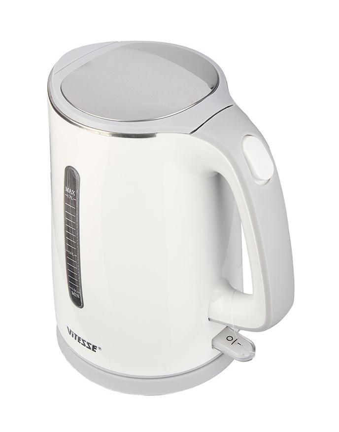Vitesse VS-167, White электрический чайникVS-167Лаконичный дизайн, новейшие технологии, высокое качество материалов и сверхбыстрая работа – все это о новом чайнике ViTESSEVS-167. Электрический чайник VS-167 –надежный прибор, который быстро кипятит воду, и лучший помощник в приготовлении чашечки любимого чая или кофе!