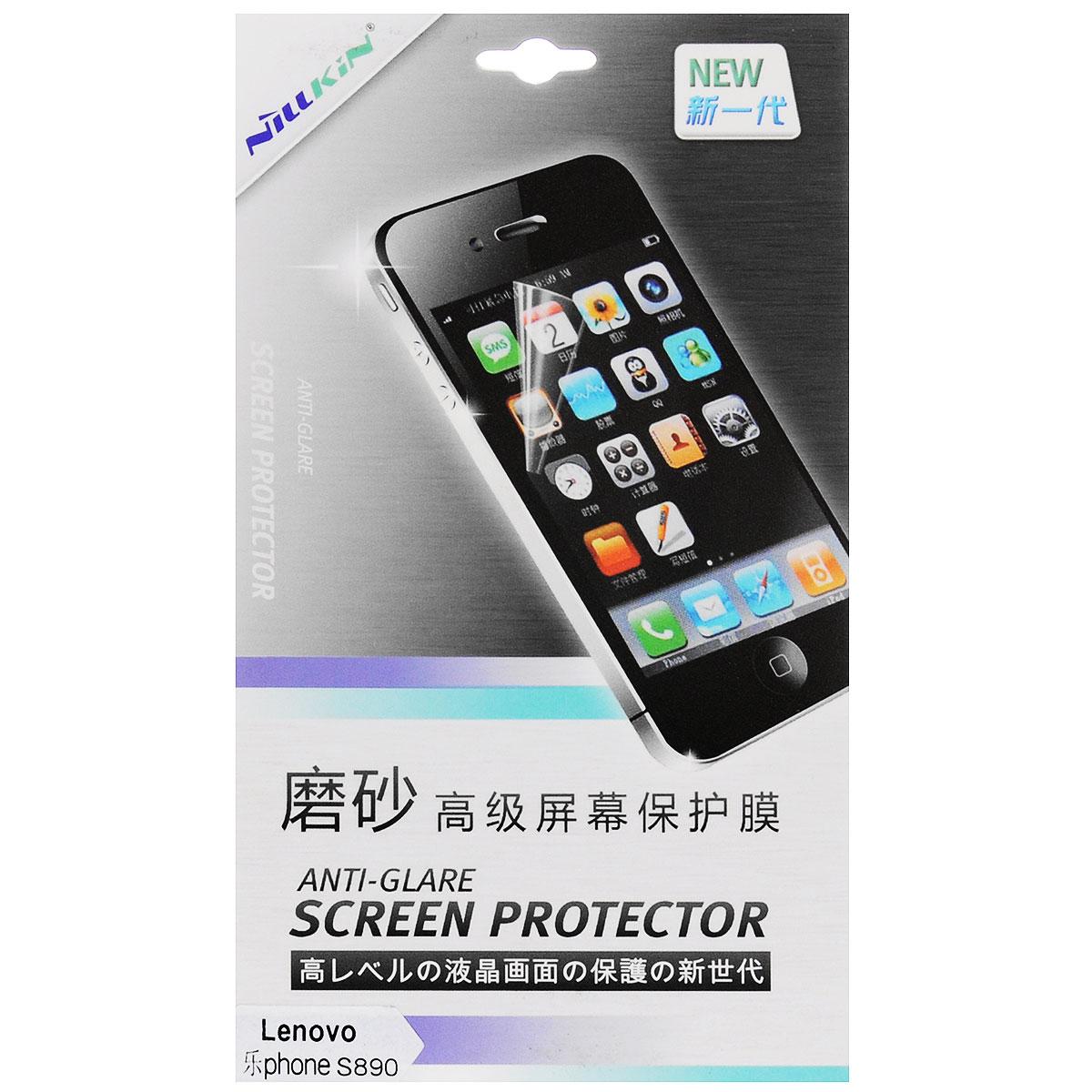 Nillkin Screen Protector защитная пленка для Lenovo S890, матоваяSP-029Защитная пленка Nillkin Screen Protector для Lenovo S890 сохраняет экран смартфона гладким и предотвращает появление на нем царапин и потертостей. Структура пленки позволяет ей плотно удерживаться без помощи клеевых составов. Пленка практически незаметна на экране смартфона и сохраняет все характеристики цветопередачи и чувствительности сенсора.
