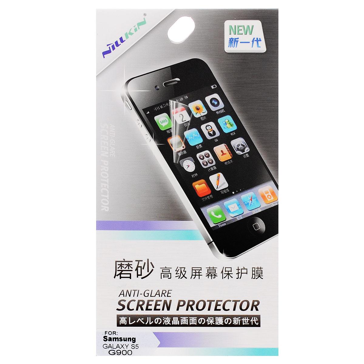 Nillkin Screen Protector защитная пленка для Samsung Galaxy S5, матоваяSP-044Защитная пленка Nillkin Screen Protector для Samsung Galaxy S5 сохраняет экран гладким и предотвращает появление на нем царапин и потертостей. Структура пленки позволяет ей плотно удерживаться без помощи клеевых составов. Пленка практически незаметна на экране устройства и сохраняет все характеристики цветопередачи и чувствительности сенсора.