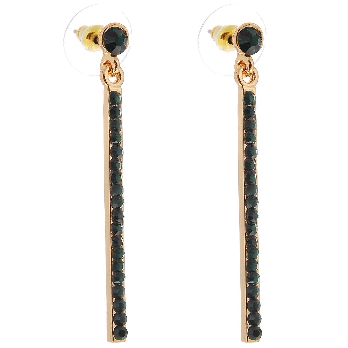 Серьги Taya, цвет: золотистый, изумрудный. T-B-6044T-B-6044-EARR-GL.EMERALDОригинальные серьги Taya выполнены из металлического сплава золотистого цвета и декорированы стразами зеленого цвета. Застегивается на замок-гвоздик с пластиковыми заглушками. Такие серьги позволят вам с легкостью воплотить самую смелую фантазию и создать собственный, неповторимый образ.