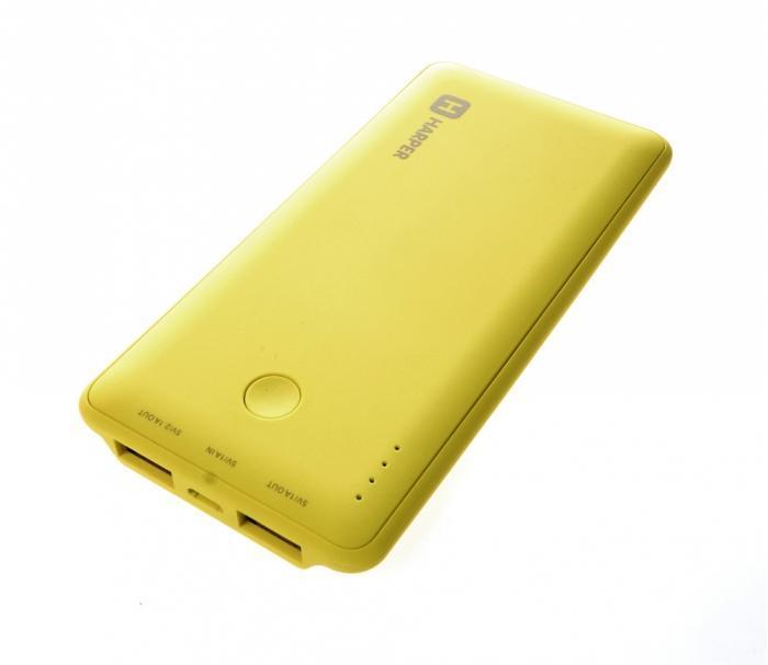 Harper PB-6001, Lime внешний аккумуляторPB-6001 limeHarper PB-6001 - мобильный внешний аккумулятор, предназначенный для подзарядки таких устройств как телефон, плеер, планшет, цифровой камеры, электронная книга. Это устройство будет великолепным помощников в ситуации, когда вы находитесь вне дома, а у нужного устройства закончился заряд батареи. Данная модель имеет два USB разъема, через которые будет происходить заряд необходимого устройства. На корпусе имеется световой индикатор, который будет сигнализировать о состояние заряда внешнего аккумулятора.