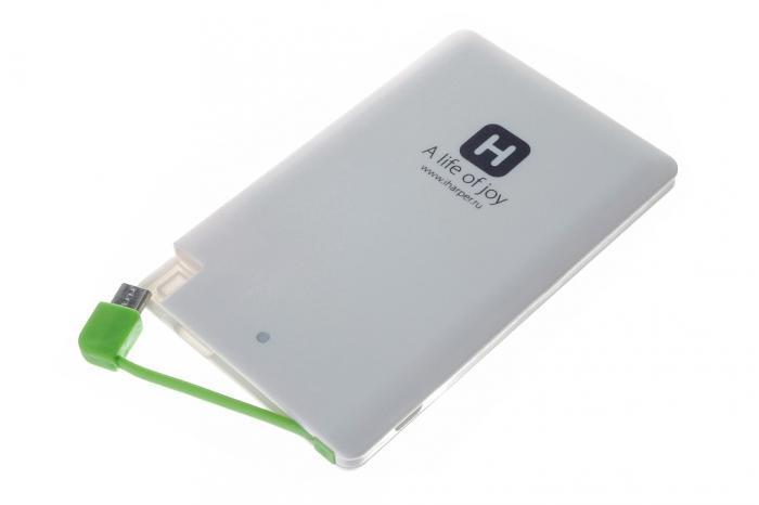 Harper PB-2601 внешний аккумуляторPB-2601Harper PB -2601 - мобильный внешний аккумулятор, предназначенный для подзарядки таких устройств как телефон, плеер, планшет, цифровой камеры, электронная книга. Это устройство будет великолепным помощников в ситуации, когда вы находитесь вне дома, а у нужного устройства закончился заряд батареи. На корпусе устройства имеется световой индикатор, который будет сигнализировать о состоянии заряда внешнего аккумулятора.