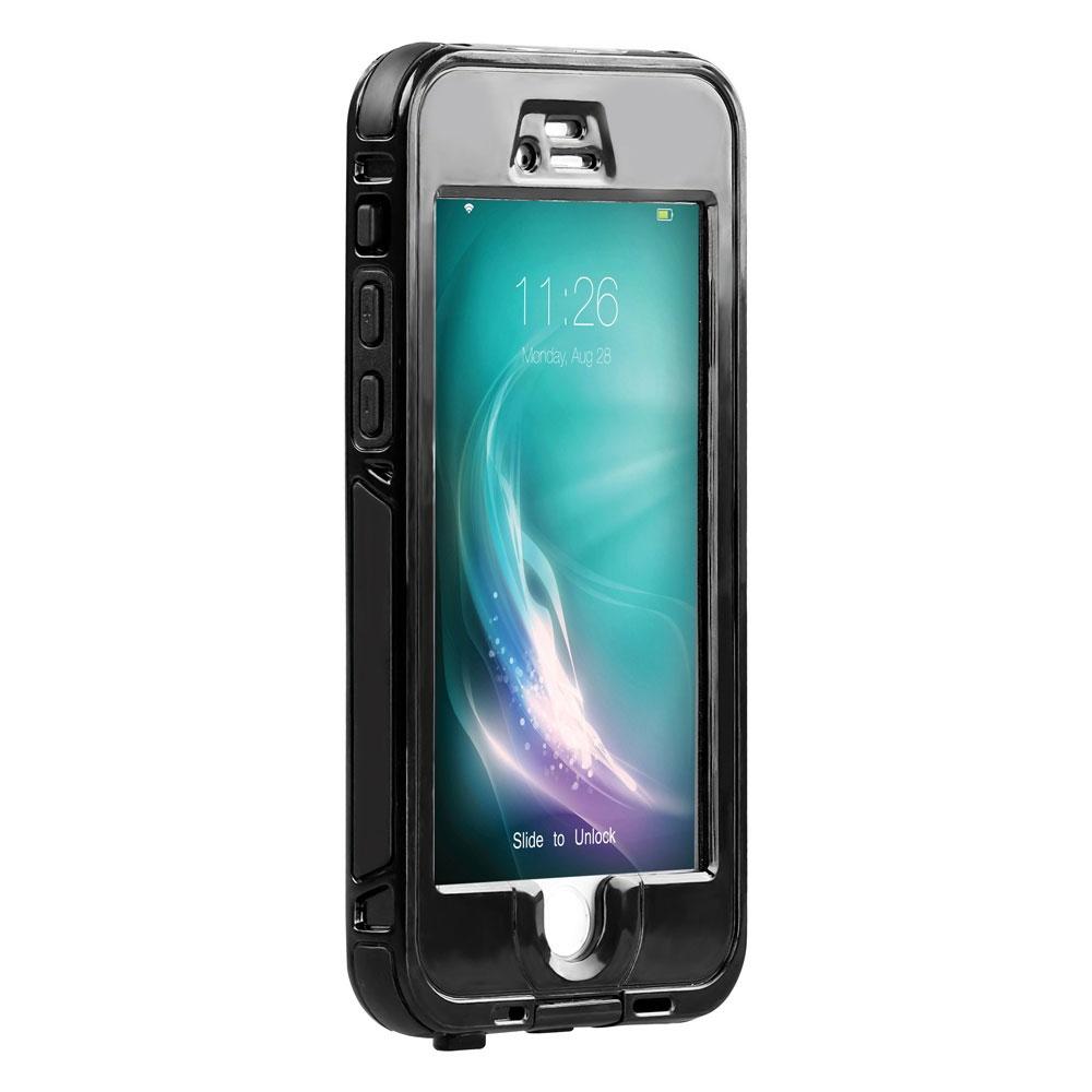 Promate Diver-i6 чехол для iPhone 6, Black00008413С Diver-i6 ваш iPhone 6 в полной безопасности. Он прочен и водонепроницаем. Роняйте на землю, в лужу, на пол и еще куда угодно ваш смартфон, он останется целым и невредимым благодаря Diver-i6. Благодаря герметичности корпуса телефон может находиться под водой. Ударопрочное стекло ни как не повлияет на чуткость сенсорного экрана. Diver-i6 специально изготовлен для iPhone 6, по этому резиновые кнопки идеально подогнаны к корпусу смартфона, а все технические порты доступны. Убедитесь в оптимальной защите вашего iPhone 6 с Diver-i6. Водонепроницаемый. Защитное стекло не мешает работе сенсорного экрана. Совместим с функцией Touch ID (идентификация по отпечатку пальца)
