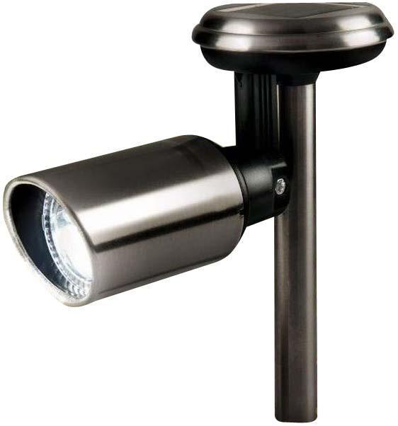 """Gardman Светильник на солн.батарее для точечной подсветки. Регулируемая """"голова"""". Нерж сталь .H22cm x W10cm x D33.5cm 18219"""