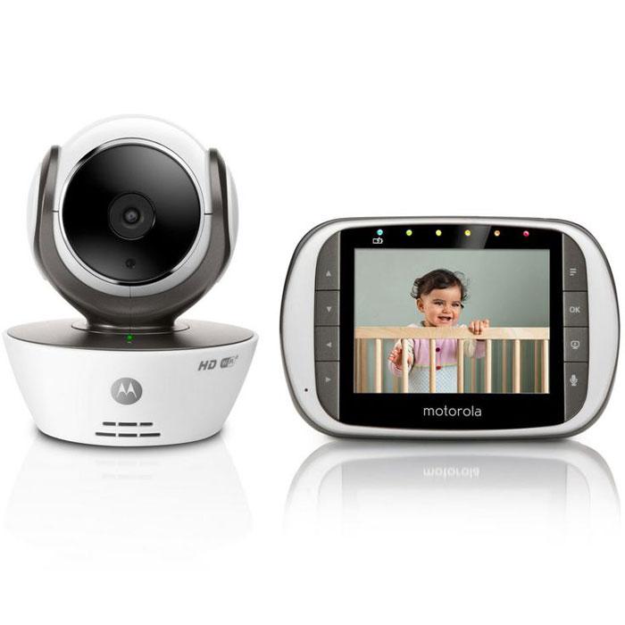 Видеоняня Motorola МВР853 ConnectMBP853Motorola МВР853 Connect – это принципиально новая модель видеоняни, которая позволяет просматривать изображение не только с родительского блока, но также с помощью других устройств, благодаря бесплатному приложению Hubble for Motorola Monitors. Родительский блок видеоняни MBP853Connect (диагональ дисплея 3,5 дюйма) может работать либо от постоянного источника питания 220В, либо от аккумулятора. С помощью родительского блока можно одновременно просматривать изображения с 4-х камер, благодаря функции многоэкранный режим. Его можно подключать к TV или ПК, а также настраивать таймер включения видео: 5 минут, 30 минут, 60 минут). Используя другие устройства (смартфон, планшет, ПК), наблюдение за ребенком можно также осуществлять через Интернет или Wi-Fi сети благодаря бесплатному приложению Hubble for Motorola Monitors, которое можно скачать в магазинах Google Play и AppStore. Два режима передачи данных: по стандарту FHSS 2,4 ГГц или по сети...