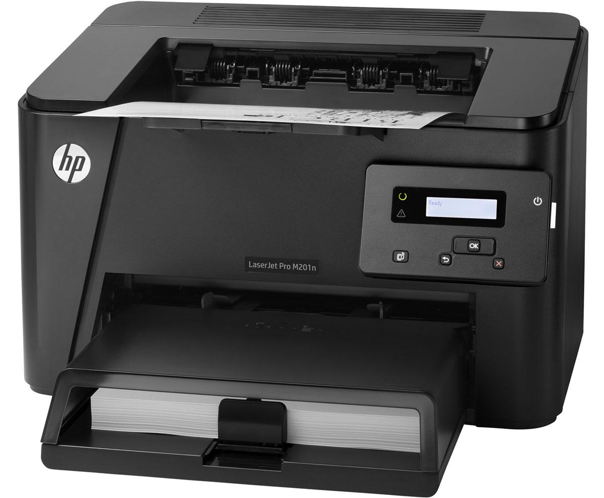 HP LaserJet Pro M201n (CF455A) лазерный принтерCF455AПродвинутые встроенные и дополнительные функции безопасности в сочетании с высокой скоростью работы и возможностью печати со смартфонов, планшетов и ноутбуков делают принтер HP LaserJet Pro M201n (CF455A) идеальным решением для повышения производительности. Интуитивно понятные функции позволяют быстрее выполнять задания печати. С помощью встроенных функций вы можете легко управлять настройками принтера и обеспечивать защиту данных. Благодаря подключению по сети Ethernet принтер можно использовать совместно с другими сотрудниками. Принтер оснащен разъемом USB для подключения, а также инструментами управления и контроля за расходными материалами, которые можно запустить с настольного ПК. Вам больше не нужно думать о проблемах подключения и безопасности. Благодаря интуитивно-понятной панели можно легко управлять заданиями печати. Сократите время простоев. Благодаря высокой скорости печати до 26 страниц в минуту, производительность офиса значительно...