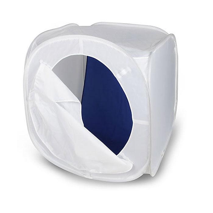 Rekam LCS-90 съемочный короб (90 х 90 х 90 см)LCS-90Rekam LCS-90 - это бестеневой лайт-куб для предметной съемки. Изолируя предмет съемки со всех сторон, лайт- куб позволяет максимально избавиться от нежелательных теней и бликов. Он изготовлен из полупрозрачного материала белого цвета, обладающего жаростойкими свойствами. Самораскладывающаяся конструкция позволяет установить и убрать лайт-куб за считанные секунды. Комплект включает удобный чехол, позволяющий компактно сложить куб, и четыре дополнительных матерчатых фона на липучках - белый, синий, красный и черный.