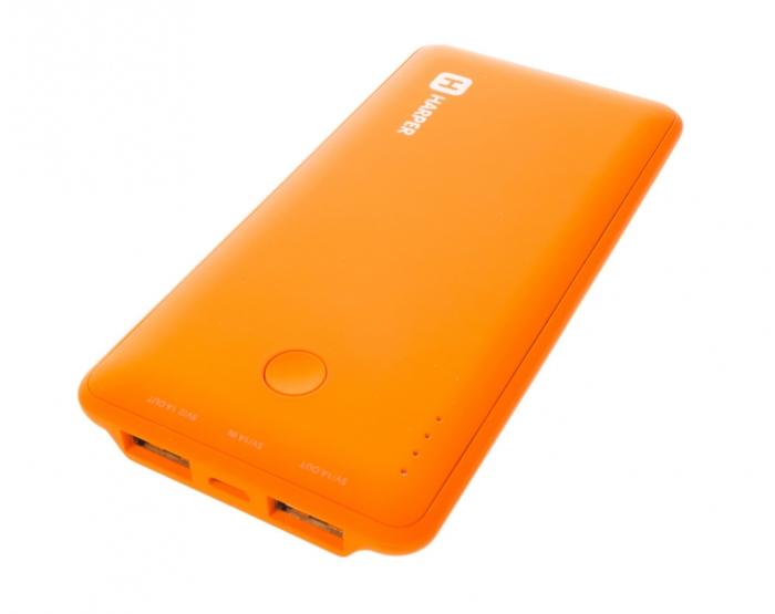 Harper PB-6001, Orange внешний аккумуляторPB-6001 orangeHarper PB-6001 - мобильный внешний аккумулятор, предназначенный для подзарядки таких устройств как телефон, плеер, планшет, цифровой камеры, электронная книга. Это устройство будет великолепным помощников в ситуации, когда вы находитесь вне дома, а у нужного устройства закончился заряд батареи. Данная модель имеет два USB разъема, через которые будет происходить заряд необходимого устройства. На корпусе имеется световой индикатор, который будет сигнализировать о состояние заряда внешнего аккумулятора.