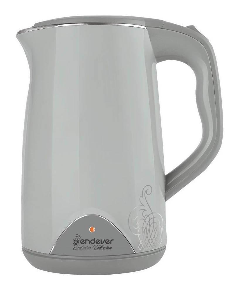 Endever Skyline KR-213S электрочайникKR-213SЭлектрический чайник Endever SkyLine KR-213S – это высокое качество изготовления, современный дизайн, стильный цвет. Он украсит интерьер любой кухни и создаст прекрасное настроение. Внутренняя колба из высококачественной нержавеющей стали обеспечивает повышенную коррозионную стойкость и долговечность изделия. Не нагревающийся корпус позволяет не нагреваться внешней поверхности чайника и дает возможность избежать возможных ожогов при случайном прикосновении к корпусу во время кипячения. Этот чайник имеет функцию автоматического поддержания температуры воды. Этот режим рекомендуется для нагретой, но остывшей ниже 70°С воды. Чтобы избежать многократного кипячения воды, которое ухудшает ее качественные и вкусовые свойства, данный чайник оснащен режимом поддержания температуры воды на уровне 60-70°С.