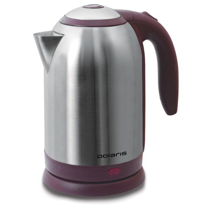 Polaris PWK 1864CA, Vinous Silver электрический чайникPWK 1864CAЭлектрический чайник Polaris PWK 1864CA является прекрасным решением для тех, кто любит устраивать себе перерывы в работе на чашечку чая или кофе. Он прост в управлении и долговечен в использовании. Чайник автоматически выключается при закипании.