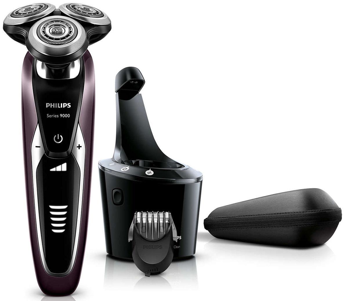 Philips S9521/31 электробритваS9521/31Запатентованные лезвия V-Track Precision электробритвы Philips S9521/31аккуратно захватывают и направляют волоски любой длины, а также волоски, прилегающие к коже. Обеспечивает на 30 % более гладкое и быстрое бритье, чтобы ваша кожа всегда выглядела безупречно. Новые гибкие головки вращаются в 8 направлениях, максимально точно повторяя контуры лица и требуя меньше усилий при каждом движении. Головки, двигающиеся независимо от бритвенного элемента, захватывают на 20 % больше волосков и обеспечивают более чистое бритье при меньшем количестве движений. Встроенная система двойных лезвий электрической бритвы Philips S9521/31 приподнимает волоски, сбривая их максимально близко к поверхности кожи, что обеспечивает более чистое бритье. Настройки для комфортного бритья позволяют задать ваши личные предпочтения. Вы можете выбрать один из 3 режимов: бережный для аккуратного и тщательного бритья чувствительной кожи, обычный для тщательного бритья изо дня в день и быстрый,...