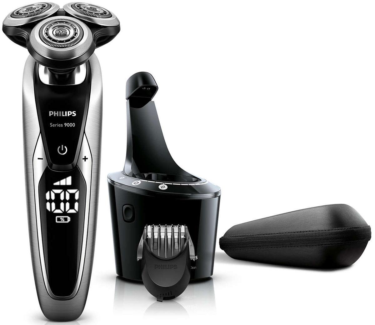 Philips S9711/31 электробритваS9711/31Запатентованные лезвия V-Track Precision электробритвы Philips S9711/31 аккуратно захватывают и направляют волоски любой длины, а также волоски, прилегающие к коже. Обеспечивает на 30 % более гладкое и быстрое бритье, чтобы ваша кожа всегда выглядела безупречно. Новые гибкие головки вращаются в 8 направлениях, максимально точно повторяя контуры лица и требуя меньше усилий при каждом движении. Головки, двигающиеся независимо от бритвенного элемента, захватывают на 20 % больше волосков и обеспечивают более чистое бритье при меньшем количестве движений. Встроенная система двойных лезвий электрической бритвы Philips S9711/31 приподнимает волоски, сбривая их максимально близко к поверхности кожи, что обеспечивает более чистое бритье. Настройки для комфортного бритья позволяют задать ваши личные предпочтения. Вы можете выбрать один из 3 режимов: бережный для аккуратного и тщательного бритья чувствительной кожи, обычный для тщательного бритья изо дня в день и быстрый,...