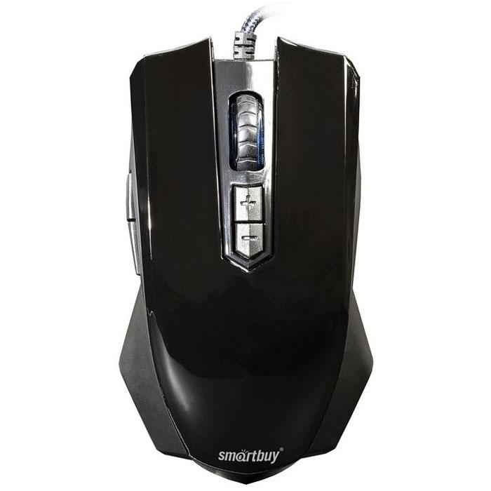 SmartBuy SBM-705G-K, Black проводная игровая мышьSBM-705G-KФорма мыши SmartBuy SBM-705G-K спроектирована для максимального комфорта при использовании всех преобладающих на сегодняшний день среди геймеров способов захвата. На корпусе расположено 7 кнопок с высококачественными контактами профессионального геймерского уровня, а нескользящее покрытие улучшает управление мышкой во время интенсивных игровых сессий. Проводная оптическая мышь с точным позиционированием курсора и сенсором High-end уровня Эргономичный дизайн и удобный захват, разработанные для понижения усталости кисти руки Оригинальный дизайн подсветки в стиле спортивного автомобиля Настраиваемые функции шести кнопок (включая движения колеса мыши вверх и вниз – см. настройки драйвера) Для каждой кнопки доступно назначение более 40 функций Четыре настраиваемых режима частоты опроса: 125, 250, 500, 1000 Гц Также настраиваются: скорость двойного клика, скорость курсора, скорость прокрутки колесика и скорость горизонтальной прокрутки Два...