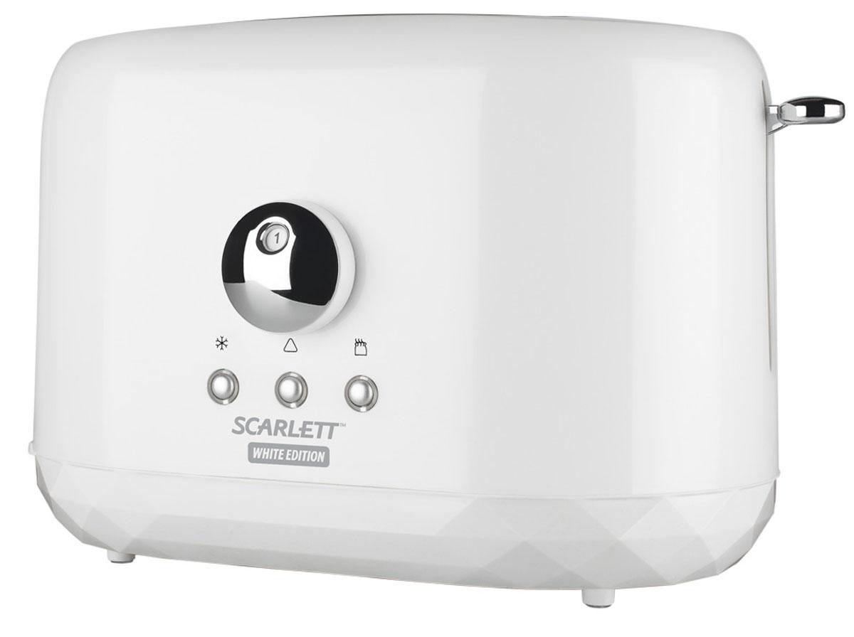 Scarlett SC-TM11002 тостерSC-TM11002Тостер Scarlett SC-TM11002 идеально подходит для поджаривания хлеба на завтрак или на закуску. Он имеет 6 уровней приготовления, что позволяет настроить желаемую степень поджаривания. Поддон для крошек является съемным, что облегчает чистку тостера.