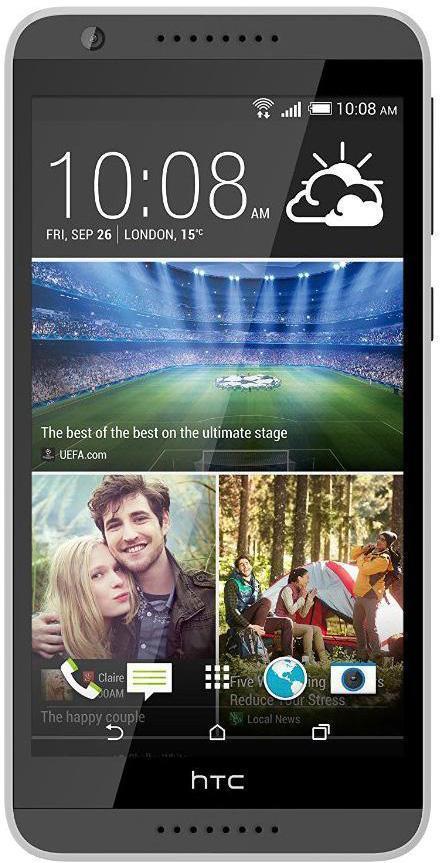 HTC Desire 820G dual sim, Gray99HAFF041-00Кроме узнаваемого фирменного дизайна HTC, модель может похвастаться достаточно производительным процессором и сразу же двумя слотами для подключения SIM-карт различных операторов (но при этом они работают в попеременном режиме). Аппарат получил от производителя большой 5.5-дюймовый дисплей, но при этом его разрешение составляет 1280х720. Что касается памяти - 1 ГБ оперативной и 16 ГБ стационарной с возможностью подключения внешней карты памяти microSD. Аккумулятор на 2600 мАч, по словам производителя, обеспечивает вплоть до 32 часов непрерывной работы в режиме разговора. Все это облачено в пластиковый корпус.