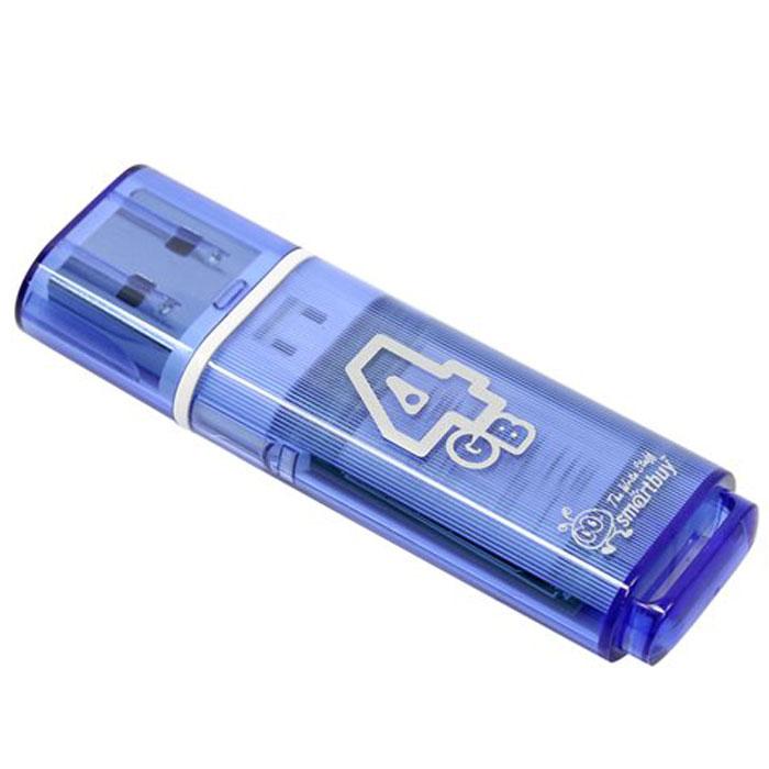 SmartBuy Glossy Series 4GB, Blue USB-накопитель
