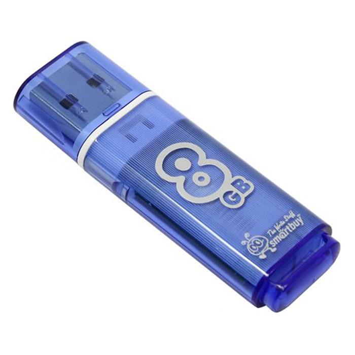 SmartBuy Glossy Series 8GB, Blue USB-накопительSB8GBGS-BКорпус USB-накопителя SmartBuy Glossy Series 8GB сделан из прозрачного пластика с белой полоской, проходящей между корпусом и колпачком. Glossy оборудован специальной системой для крепления колпачка - с помощью скобки он фиксируется между двумя выступающими пластинками на устройстве. Это очень удобно и минимизирует вероятность потери защитного колпачка. За эту же скобку устройство можно прикрепить к шнурку, чтобы накопитель всегда был под рукой. Пропускная способность интерфейса: 480 Мбит/сек Совместим с: Windows 7, Windows 8, Windows Vista, Windows XP, Windows 2000, Linux, MAC OS X