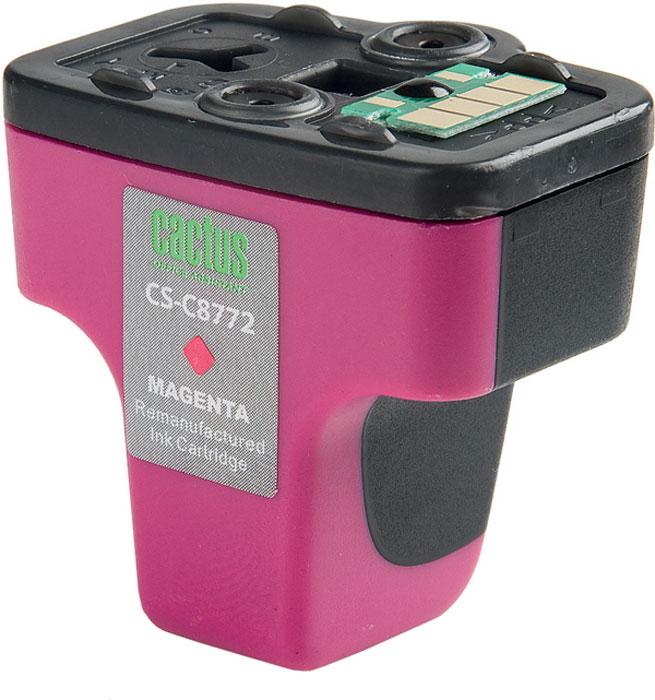 Cactus CS-C8772, Magenta струйный картридж для HP PhotoSmart 3213/3313/8253/C5183/C6183/C6283/C7183CS-C8772Картридж Cactus CS-C8772 для струйных принтеров HP PhotoSmart. Расходные материалы Cactus для печати максимизируют характеристики принтера. Обеспечивают повышенную четкость изображения и плавность переходов оттенков и полутонов, позволяют отображать мельчайшие детали изображения. Обеспечивают надежное качество печати.